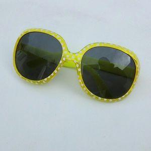Kids NEW Yellow Polka Dot Sunglasses UV 400